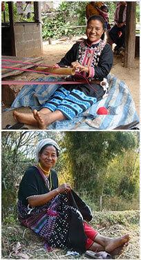 Découvrez les artisanes des villages de l'Asie du Sud-Est. Des créations d'artisanat portant leur histoire, proposées par Frangipanier, expositions-ventes itinérantes.