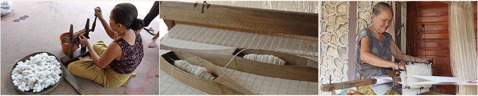 Découvrez les écharpes en coton d'Asie du Sud-Est, fabriquées de façon artisanale et authentique au Laos et au Cambodge.