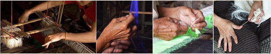 Découvrez les écharpes en soie d'Asie du Sud-Est, fabriquées de façon artisanale et authentique au Laos et au Cambodge.