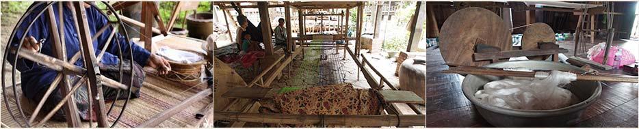 Le tissage de la soie et du coton au Cambodge, reportage sur les origines du tissage au Cambodge, artisanat authentique et équitable des villages.