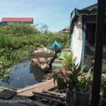 Artisanat équitable en jacinthe d'eau du Cambodge, les artisanes vivent dans des maisons flottantes sur le Lac Tonle Sap, au milieu de la jacinthe d'eau.