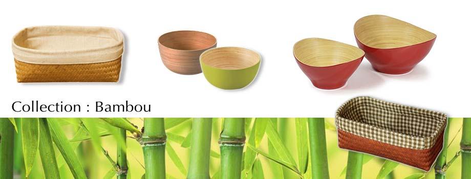 Artisanat du Laos et du Vietnam en bambou : bol, boîte, saladier, plat… pour votre décoration et table