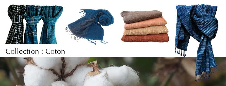 Artisanat du Laos et du Cambodge : écharpe en coton naturel… pour votre confort et bien-être