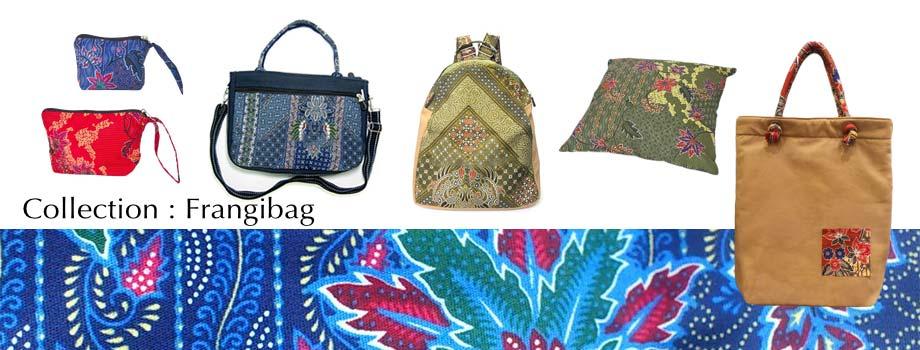 Artisanat de la Thaïlande en coton batik : sacs et accessoires attractifs et pratiques Frangibag