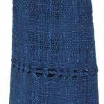 Echarpe en coton indigo filée et tissée à la main par les artisanes des villages du Laos - teinture naturelle, artisanat équitable - code 201203 f1c