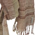 Echarpe en coton filée et tissée à la main par les artisanes des villages du Laos - teinture naturelle, artisanat équitable - code 201214 f1b
