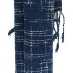 Echarpe en coton indigo filée et tissée à la main par les artisanes des villages du Laos - teinture naturelle, artisanat équitable - code 201215 f2b