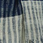 Echarpe en coton indigo filée et tissée à la main par les artisanes des villages du Laos - teinture naturelle, artisanat équitable - code 201222 f2b