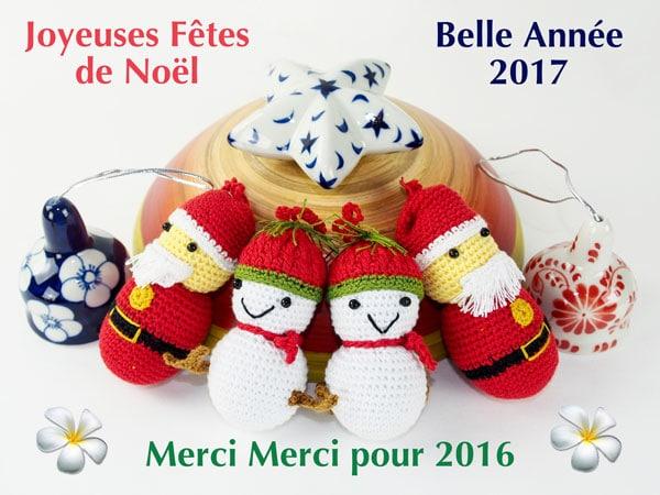 Frangipanier artisanat équitable et authentique, voeux de Noël 2016 guirlande