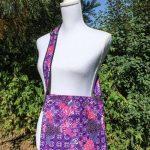 Sac en coton batik aux motifs ethniques, cadeau équitable fait à la main par des artisanes en Thaïlande - 5
