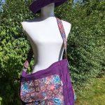 Sac en coton batik aux motifs ethniques, cadeau équitable fait à la main par des artisanes en Thaïlande - 7