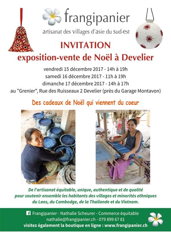 Exposition vente de Noël Frangipanier artisanat équitable