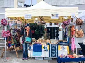 Stand Frangipanier commerce équitable artisanat en direct des villages