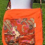 Sac en coton batik aux motifs ethniques, cadeau équitable confectionné à la main par des artisanes en Thaïlande - 20