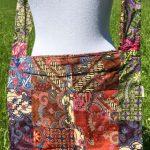 Sac en coton batik aux motifs ethniques, cadeau équitable confectionné à la main par des artisanes en Thaïlande - 26