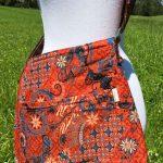 Sac en coton batik aux motifs ethniques, cadeau équitable confectionné à la main par des artisanes en Thaïlande - 3