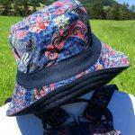 Chapeau en coton batik aux motifs ethniques, cadeau équitable confectionné à la main par des artisanes en Thaïlande - 35