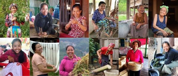 Artisanes des villages d'Asie du Sud-Est Frangipanier commerce équitable