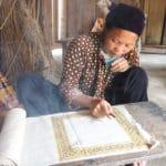 Frangipanier artisanat du chanvre et batik indigo dans une ethnie H'mong du Vietnam 9