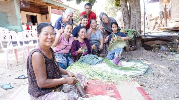 Frangipanier visite village du bambou au Laos - artisanat équitable et authentique - 10