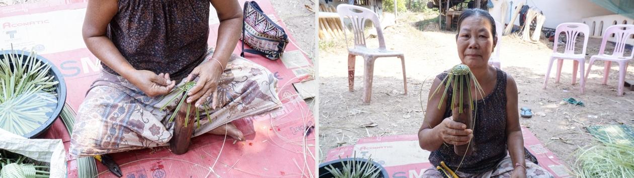 Frangipanier visite village du bambou au Laos - artisanat équitable et authentique - 12d