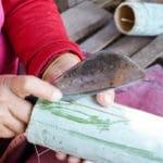 Frangipanier visite village du bambou au Laos - artisanat équitable et authentique - 14