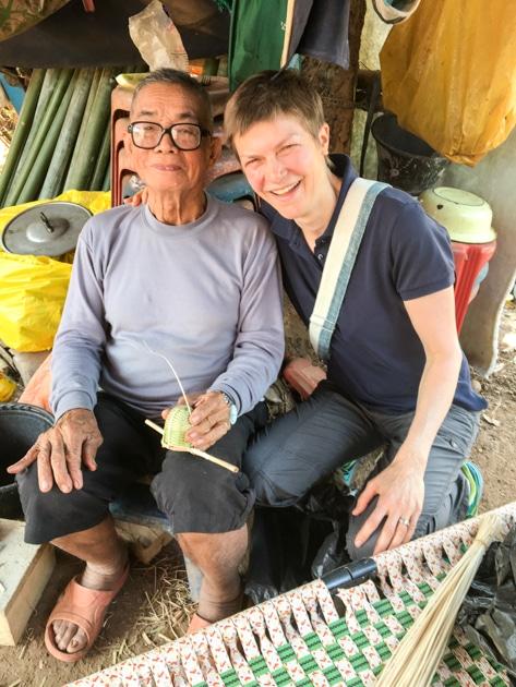 Frangipanier visite village du bambou au Laos - artisanat équitable et authentique - 25
