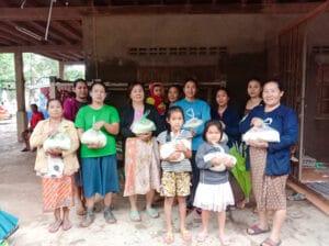 Frangipanier donation riz Laos suite aux inondations automne 2020-12